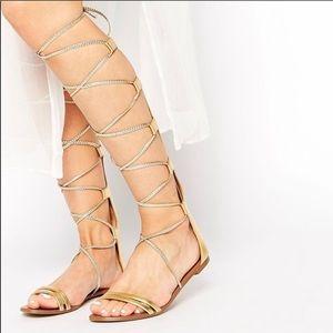 f95a42239260c Women Aldo Gold Gladiator Sandals on Poshmark